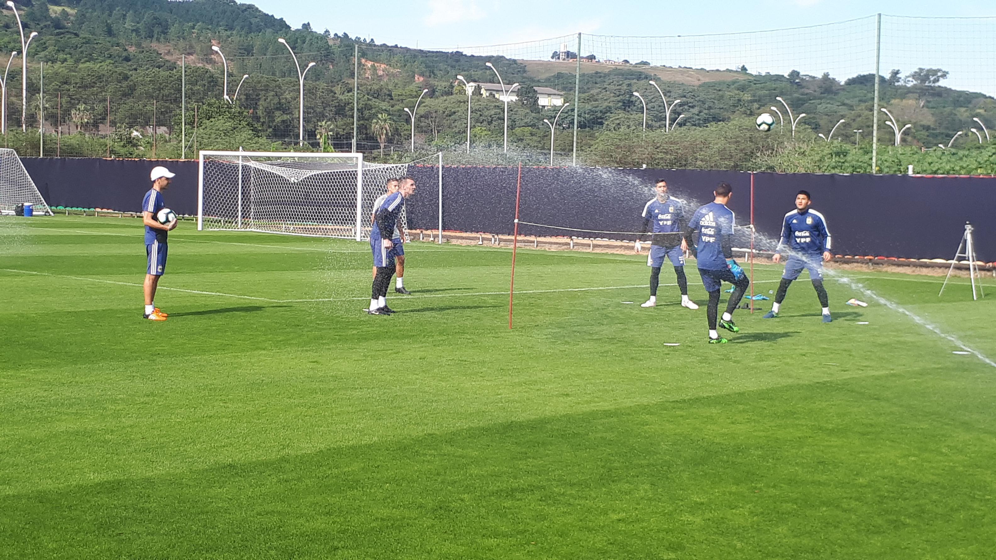 Copa América 2019: entrenamiento distendido sin las figuras