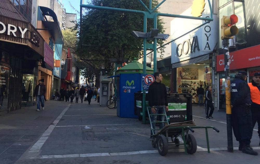 Pese al paro, la actividad comercial llegó al 69% en el Centro de la Ciudad
