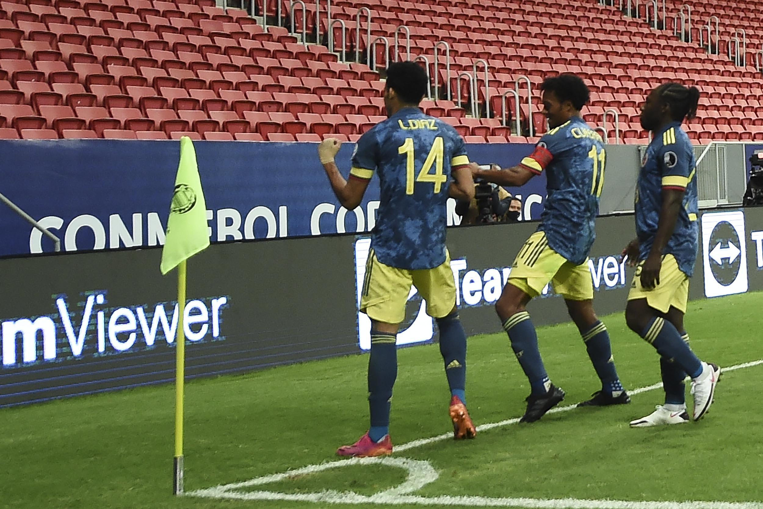 Colombia venció a Perú y se subió al podio de la Copa América 2021