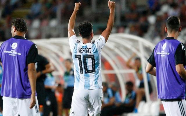 Con gol de Maroni, la sub-20 consiguió su primera victoria en el Sudamericano