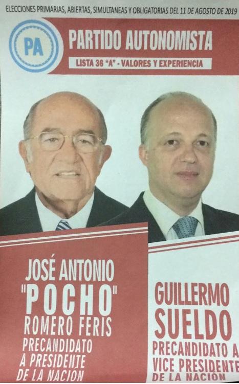 Boleta Partido Autonomista