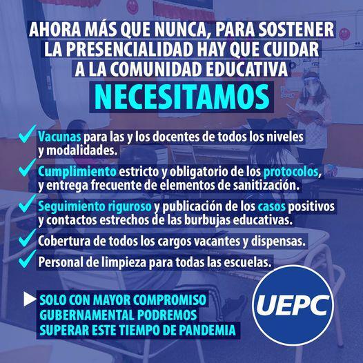 Comunicado flyer UEPC 07 04 2021