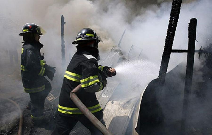 Fuego bomberos La Voz de San Justo