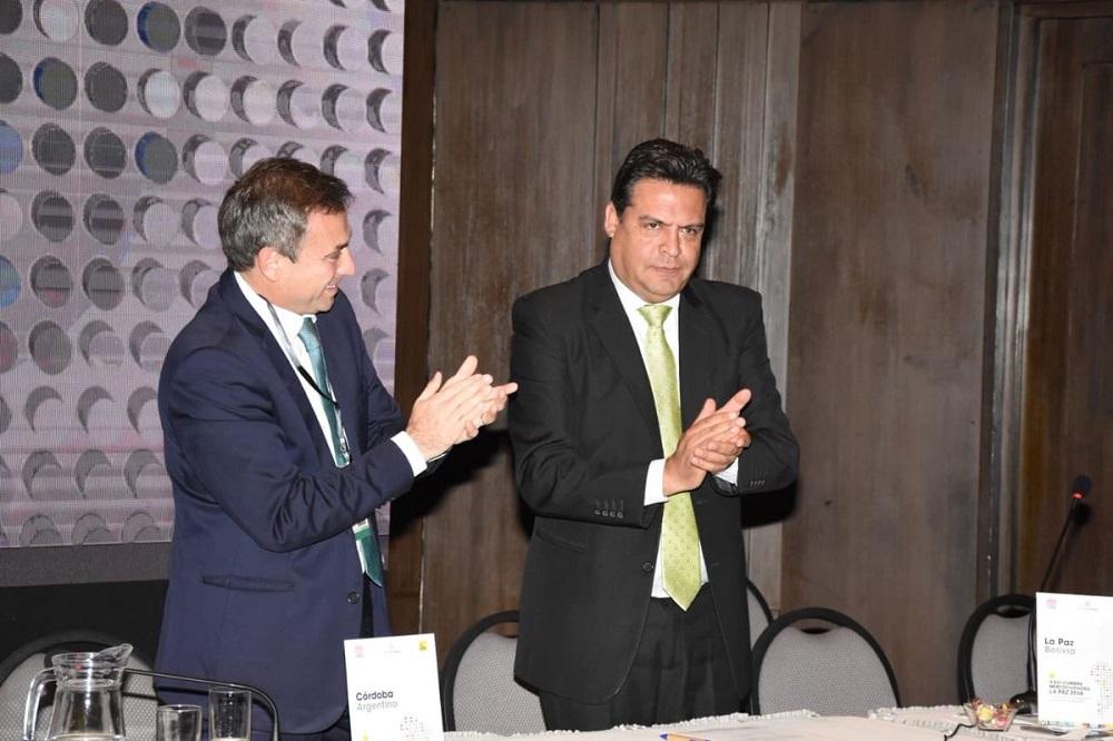 Mestre entregó la presidencia de Mercociudades en La Paz