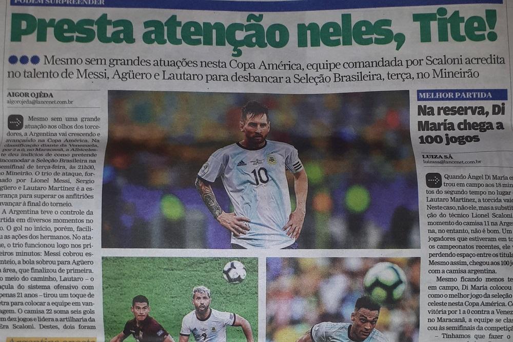 Mesura brasileña en la antesala del clásico con Argentina