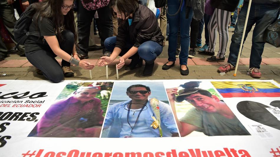 Confirman que los cuerpos hallados son de los tres periodistas ecuatorianos