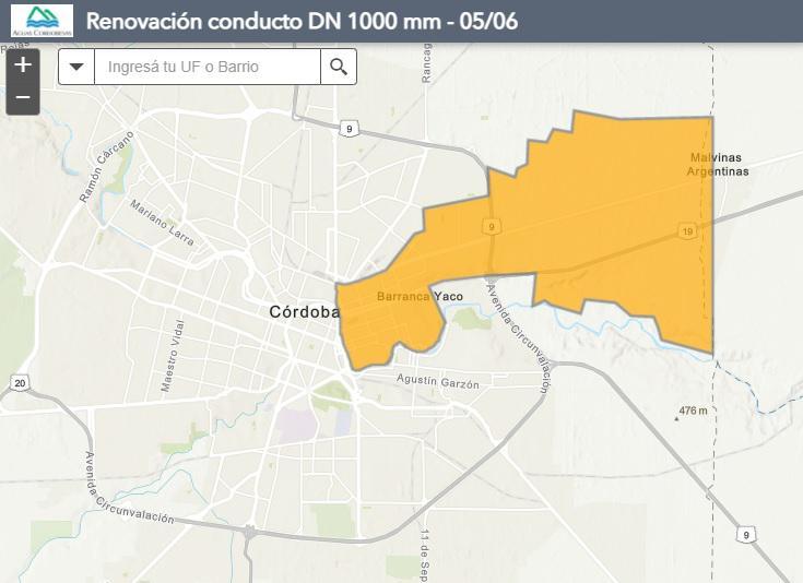 Mapa barrios afectados