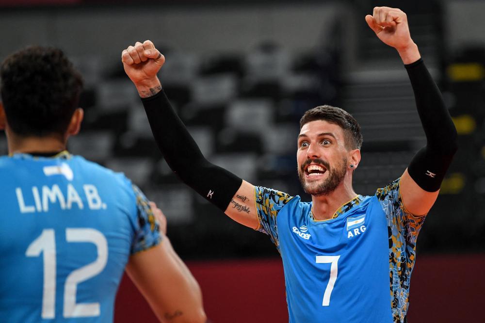 Voley: Argentina dio vuelta el partido ante Túnez y logró su segunda victoria