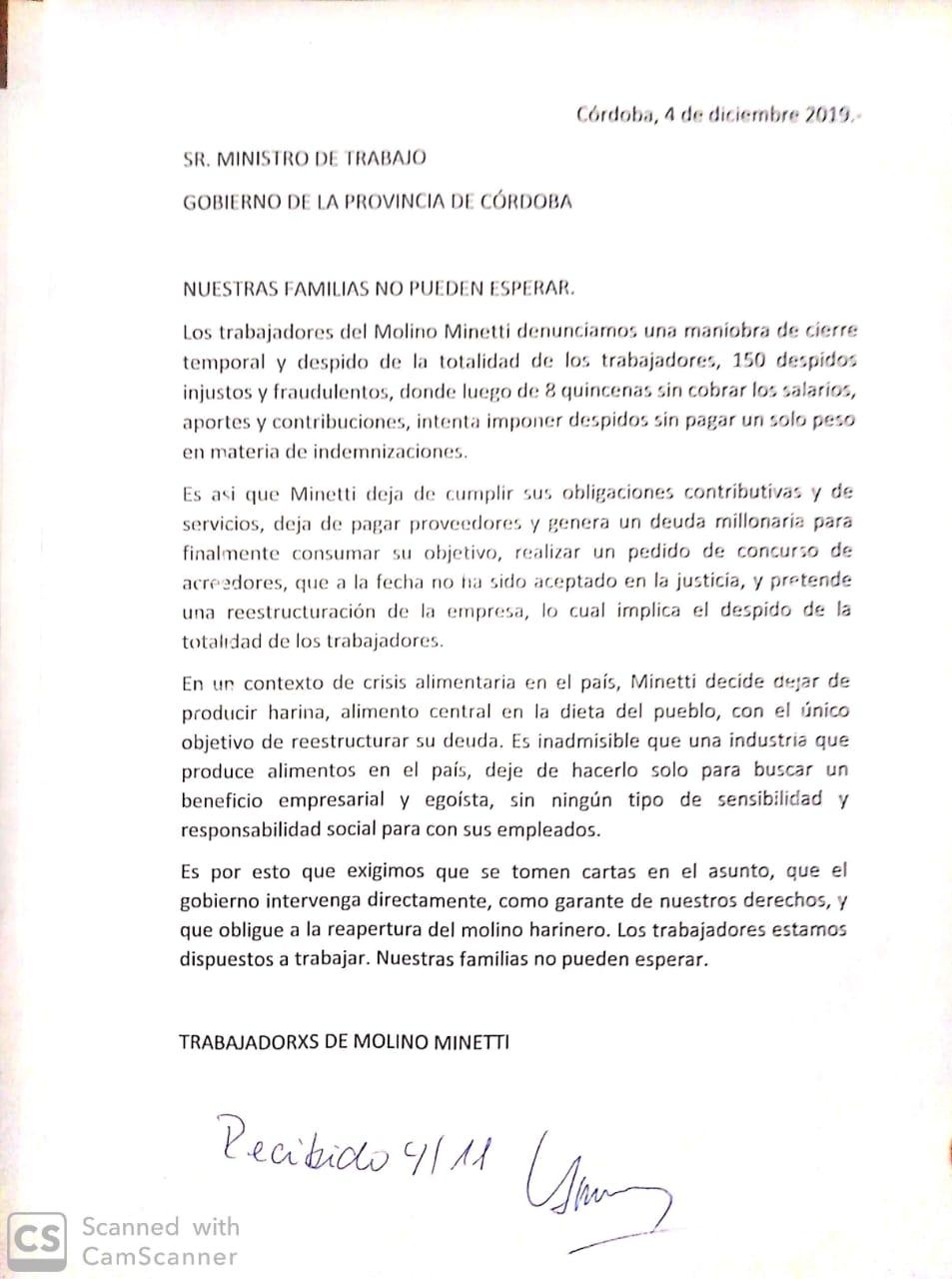 Documento minetii