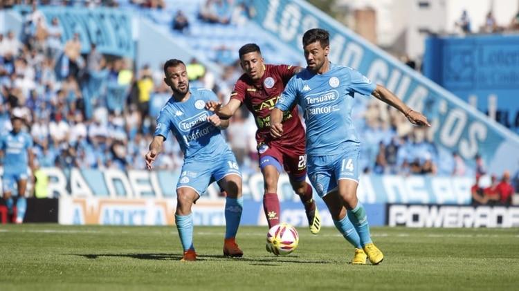 Belgrano sale a la cancha ante Lanús, por la Copa