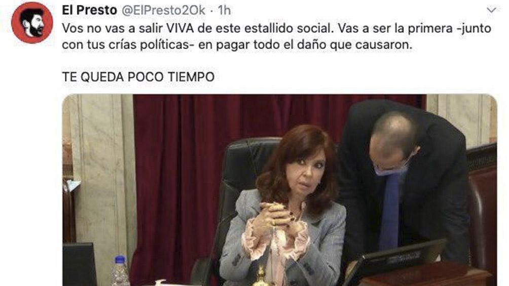 Amenazas Cristina Télam