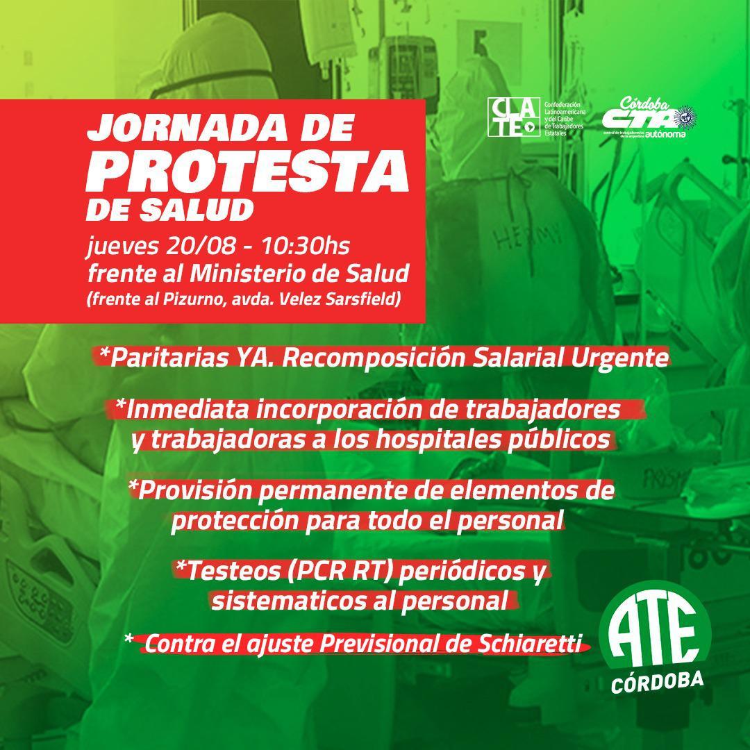 Marcha Salud ATE 20 de agosto Flyer