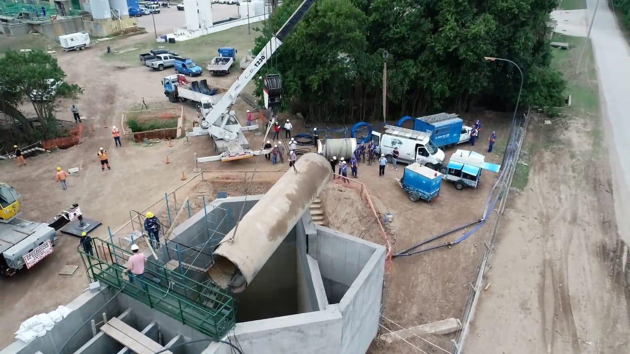 Finalizaron los trabajos en la obra canal Los Molinos-Córdoba