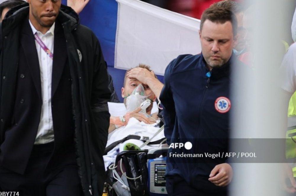 Eurocopa: el danés Eriksen se desplomó durante partido entre Dinamarca y Finlandia