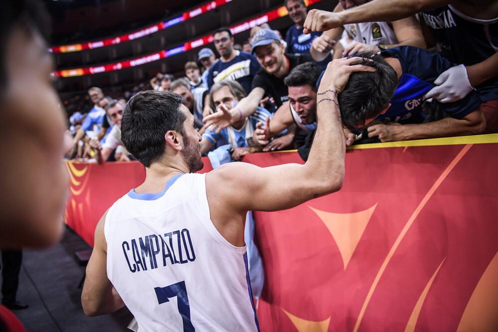 Facundo Campazzo tiene hinchada propia en el Mundial de China