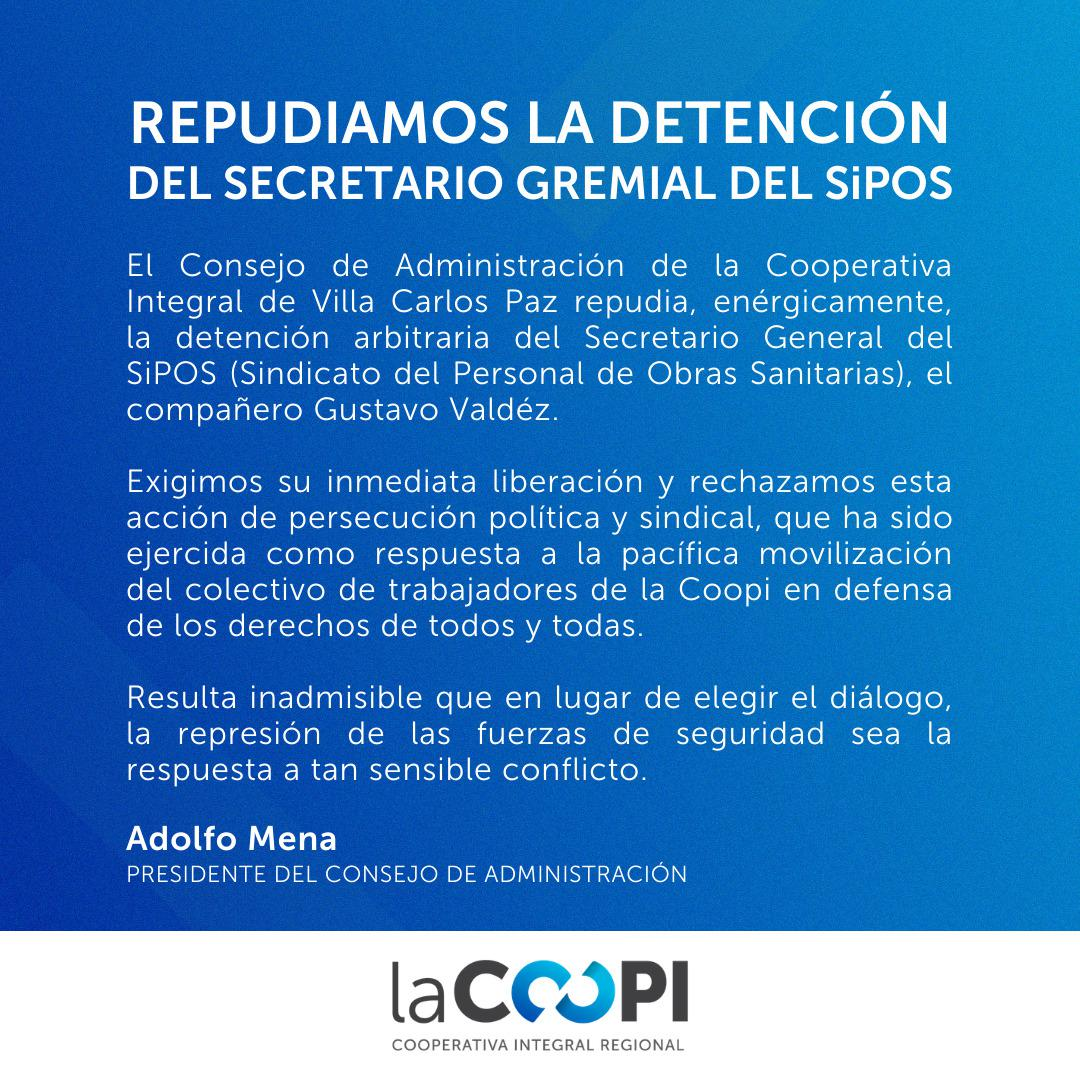 Repudio detencion de Valdez Coopi