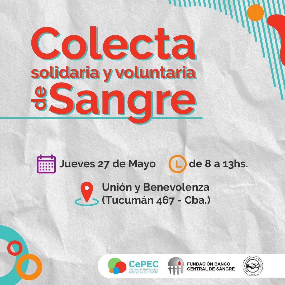 Colecta Solidaria y Voluntaria de sangre