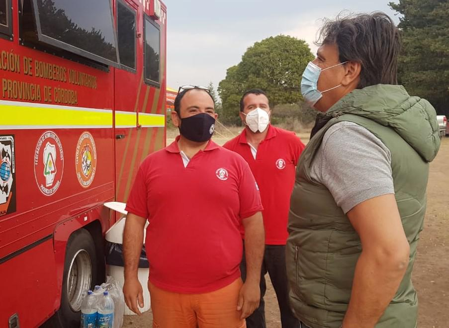 mosquera con Bomberos Gobierno de la Provincia de Córdoba