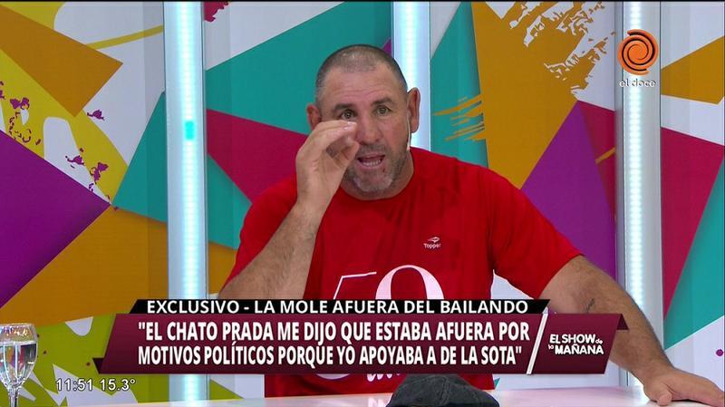 6a7193b1c9b9 La Mole dijo que lo bajaron del Bailando en 2015 por apoyar a De la Sota