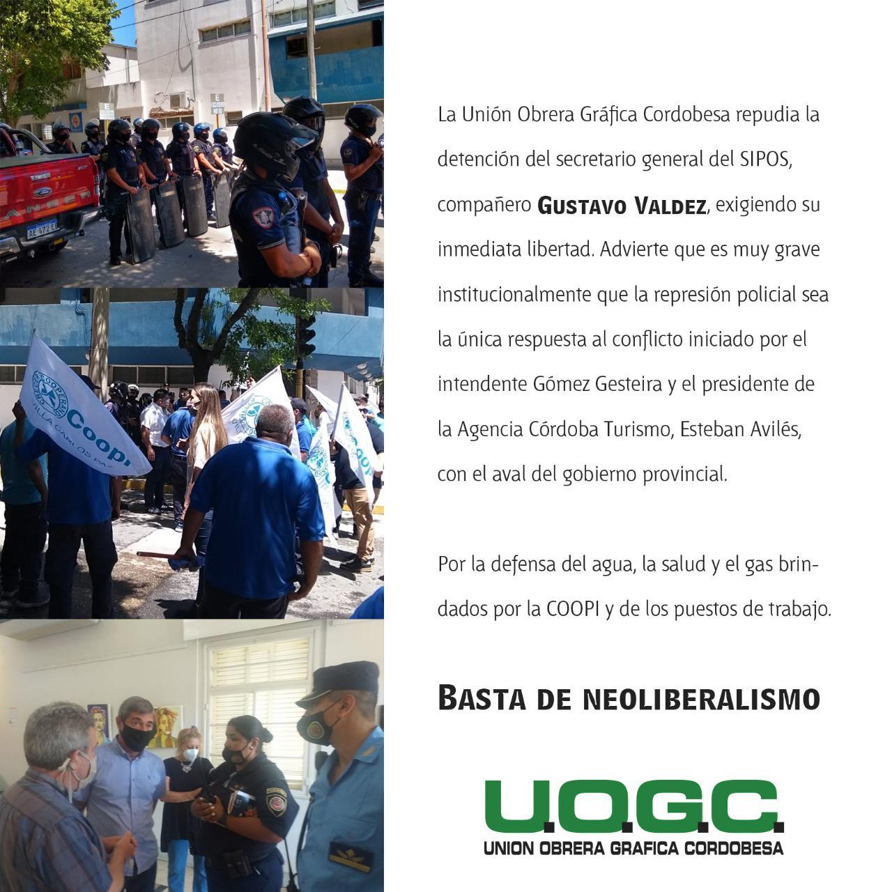 UOGC repudia la detención de Valdez