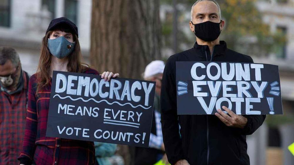 Protestas en Estados Unidos elecciones by EFE