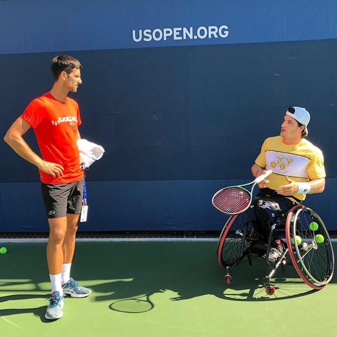 "Djokovic elogió al tenista adaptado cordobés Gustavo ""Lobito"" Fernández"