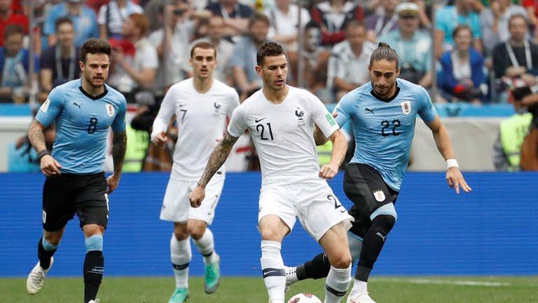 Rusia 2018: Francia le ganó 2 a 0 a Uruguay en cuartos de final