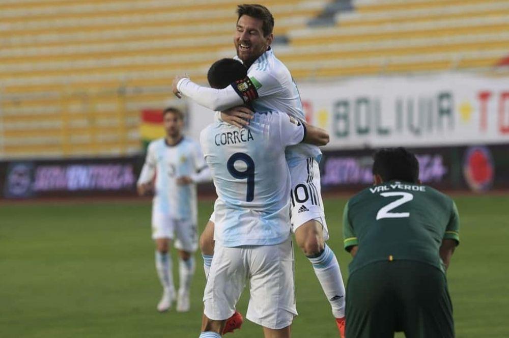 Lautaro, Palacios y Messi, lo mejor de Argentina en la altura de La Paz