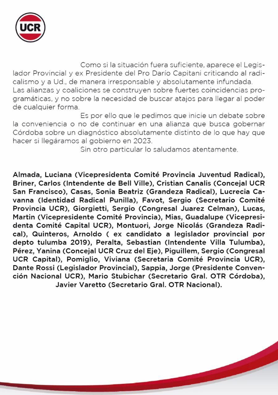 Pedido del radicalismo para discutir alianza con el PRO 25 05 2021 (2)