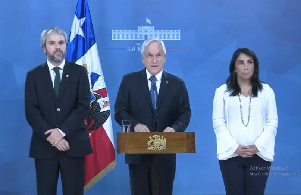 """Piñera lanzó """"un acuerdo por la paz, la justicia y una nueva Constitución"""""""
