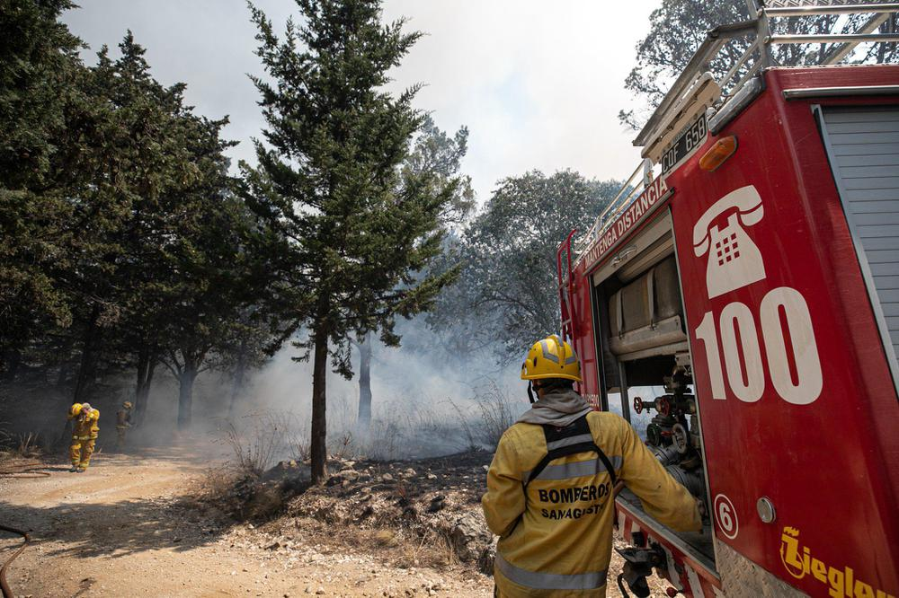 Incendios en las sierras prensa Gobierno de Córdoba
