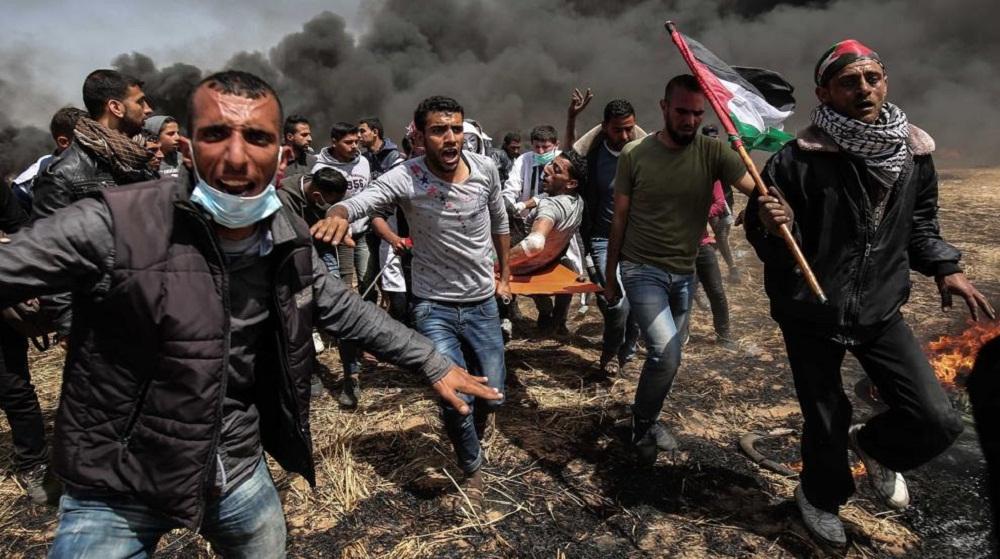 Tres palestinos muertos y más de 200 heridos en las protestas contra Israel