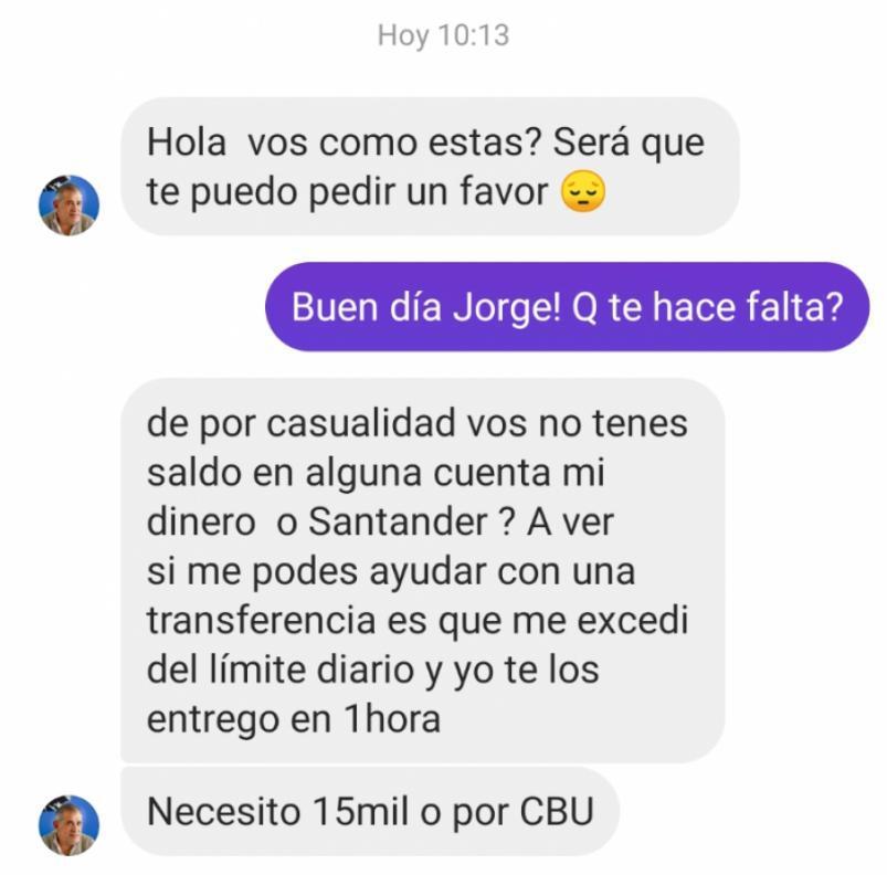 Jorge Caserio cuenta hackeada