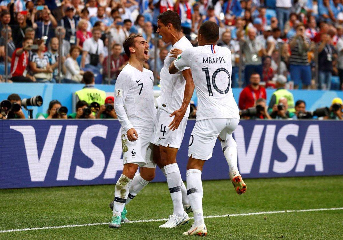 Rusia 2018: Francia fue demasiado para Uruguay y se metió en semifinales