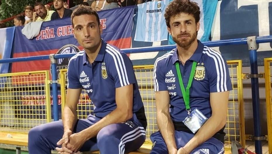 Lionel Scaloni y Pablo Aimar, una dupla técnica interina en la Selección Argentina