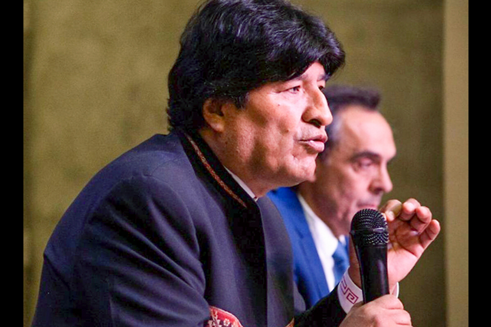 Evo Morales en Bs As