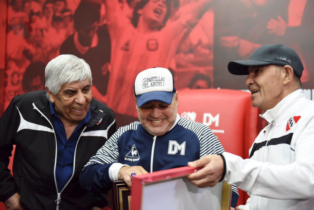 """El homenaje en el """"Infierno"""" para Diego Armando Maradona"""