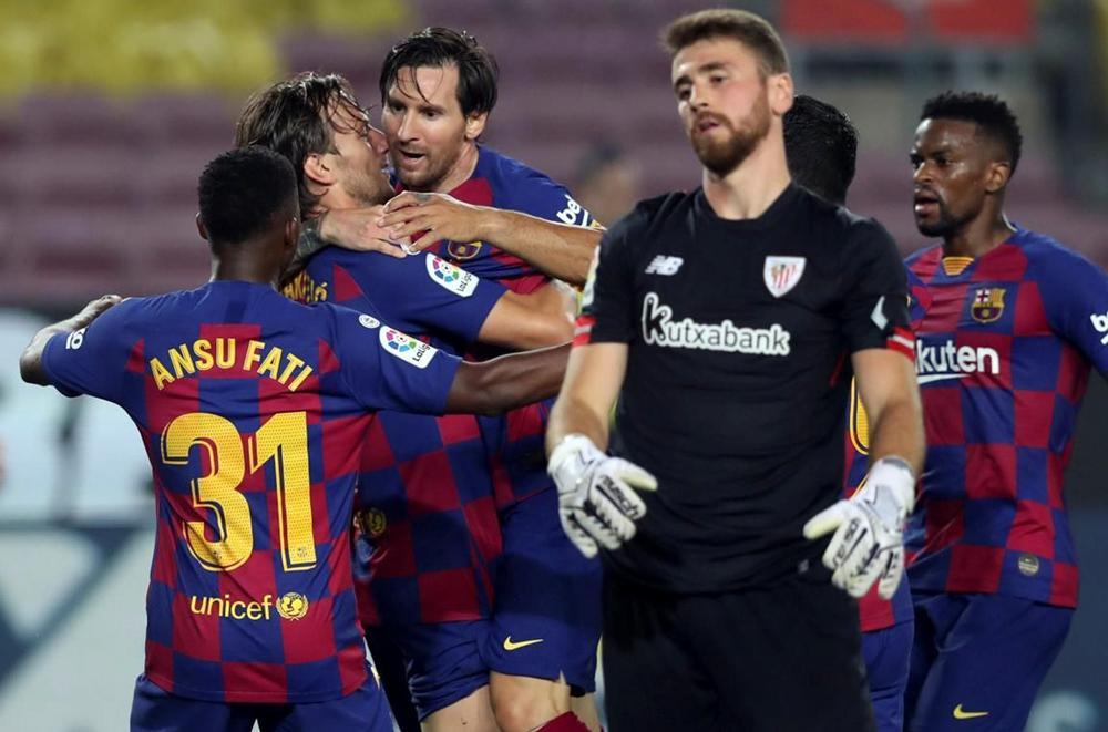 Messi alcanzó las 250 asistencias y Barcelona se afirmó en la punta