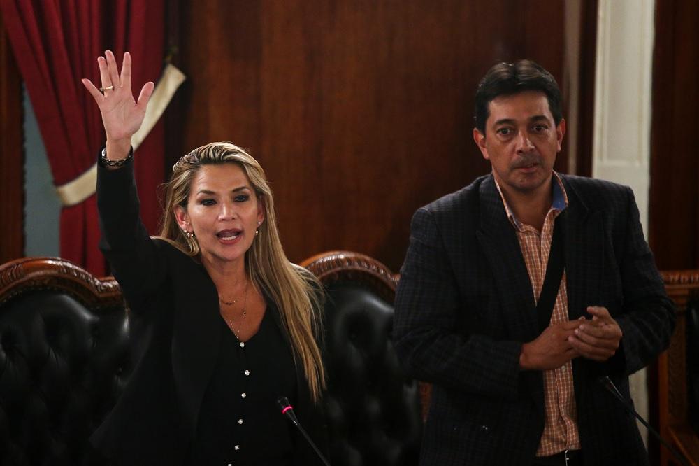 La senadora Jeanine Añez se autoproclamó presidenta de Bolivia