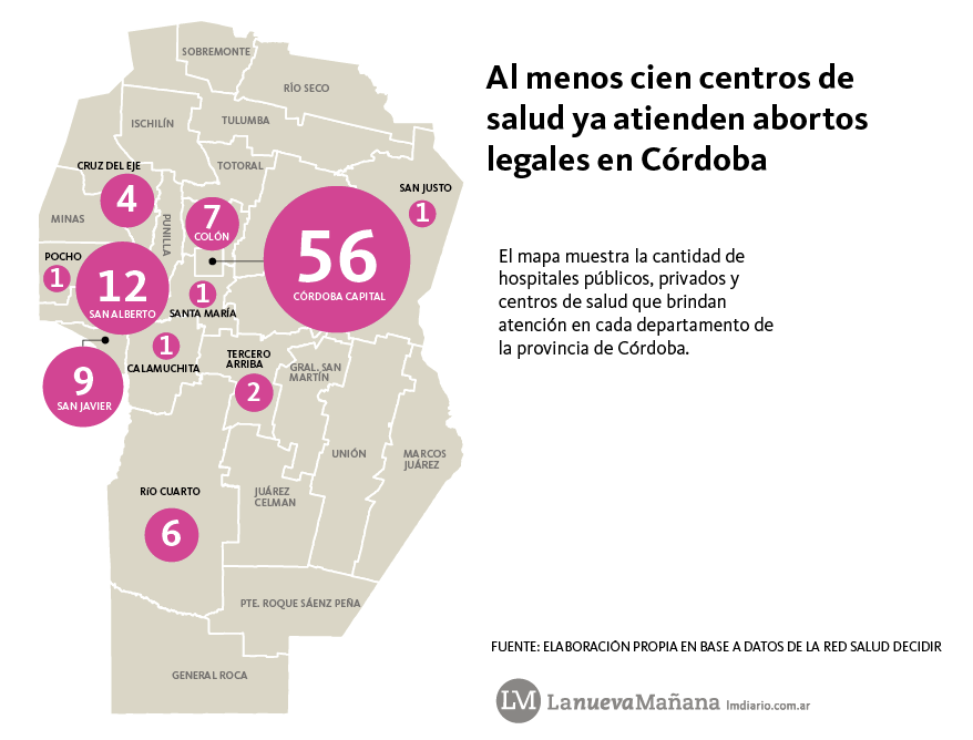 Mapa aborto legal provincia cordoba