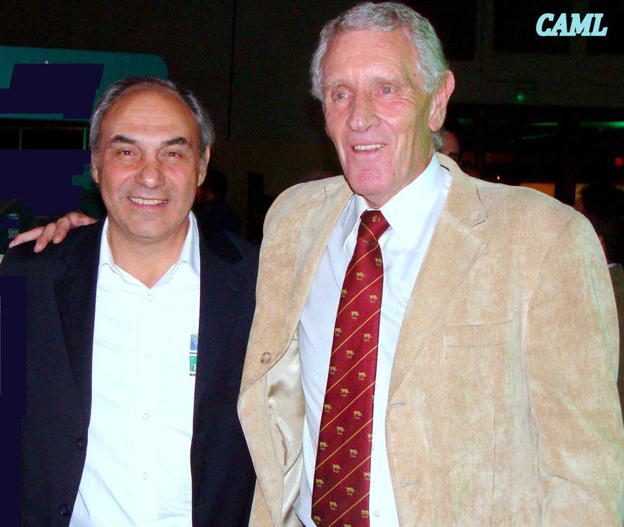 Dos Pumas de la Gira a Inglaterra, Gales, Irlanda e Italia 1978, el centro porteño Marcelo Loffreda y el segunda línea cordobés Ricardo Passaglia