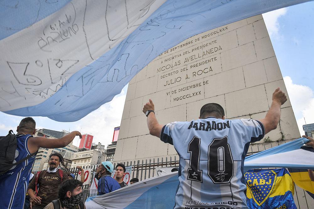 Maradona - Despedida Obelisco Bs As@ Télam
