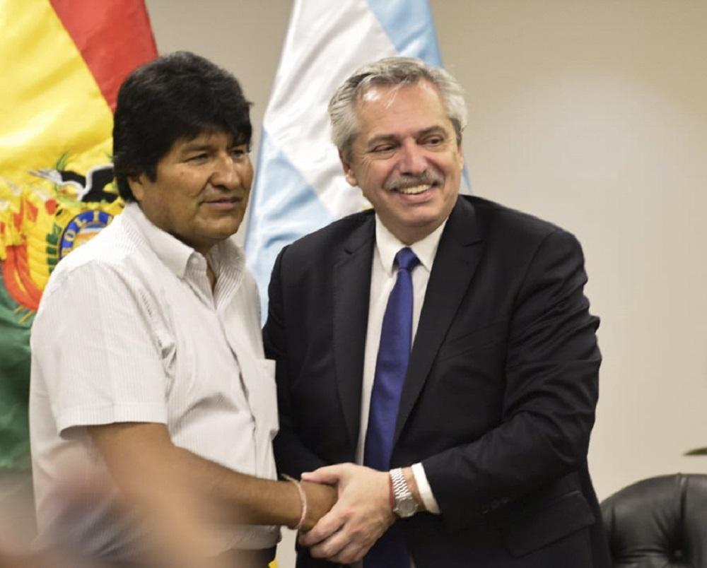 Alberto Fernández y Evo Morales NA