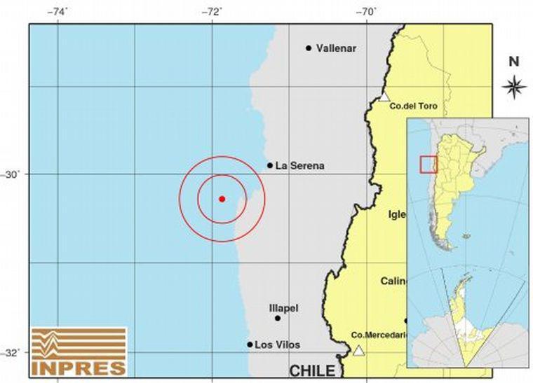 Registraron un fuerte sismo que se percibió en San Juan