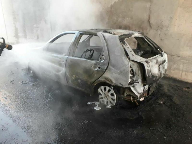 auto quemado
