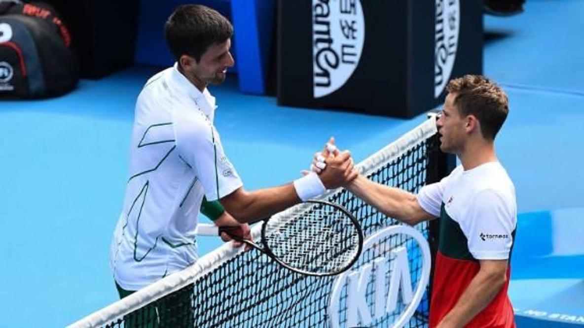 Schwartzman no pudo ante Djokovic y quedó eliminado del abierto de Australia