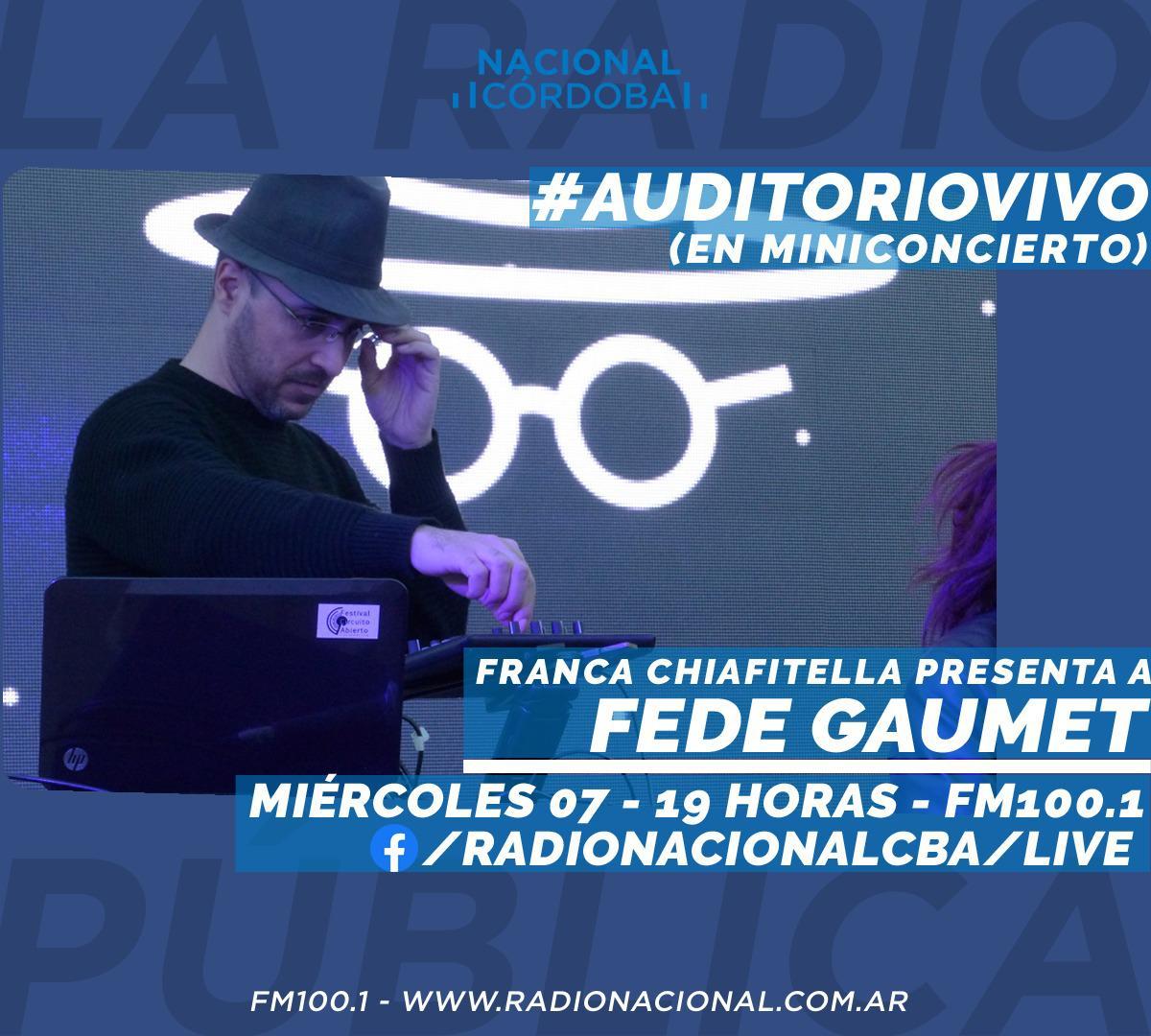 Auditorio Vivo Radio Nacional Fede Gaumet