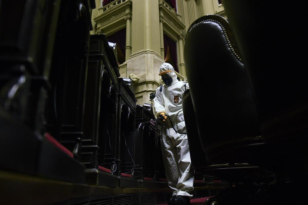 Desinfección Congreso Prensa Cámara de Diputados
