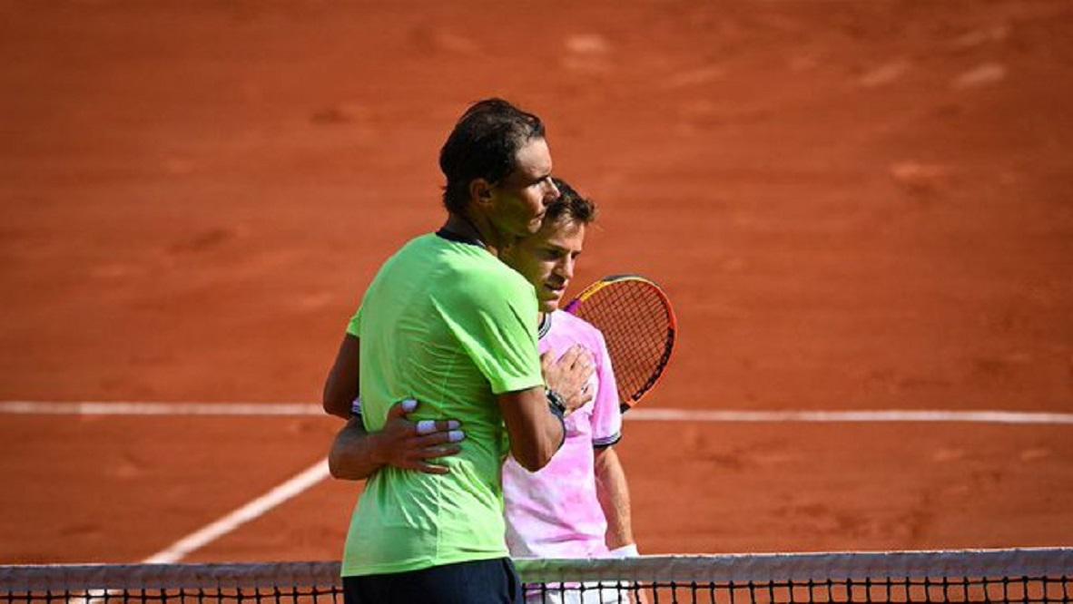 Schwartzman no pudo con Nadal y se despidió de Roland Garros