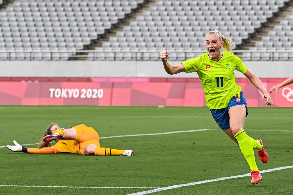 Suecia goleó a Estados Unidos en el inicio del fútbol femenino en Tokio 2020